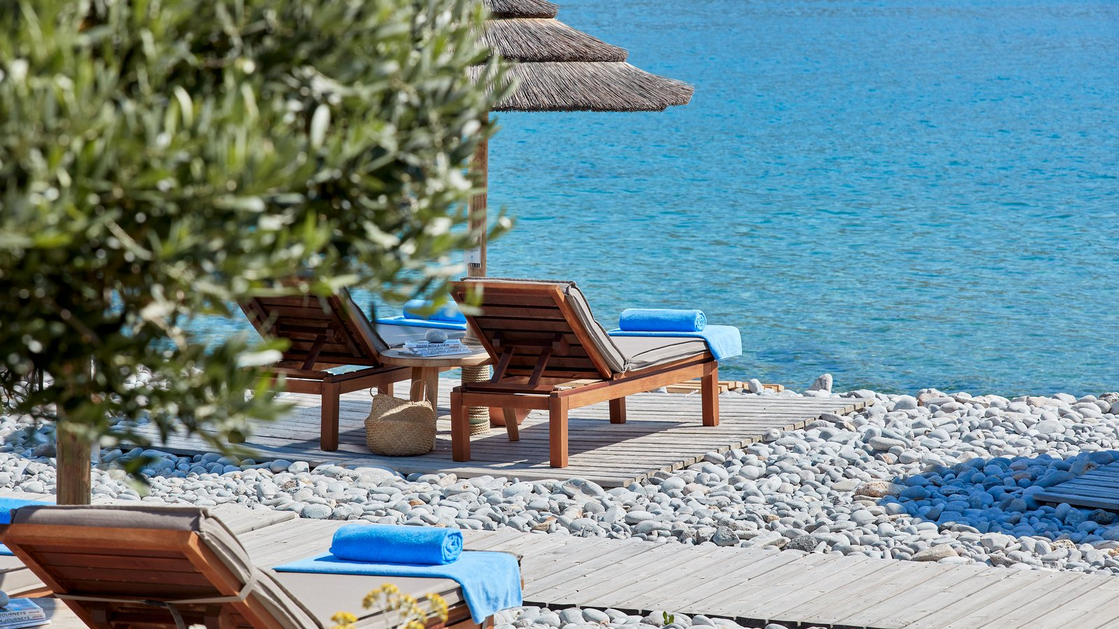 Private Beach at Blue Palace a Luxury Collection Resort Elounda Crete Greece